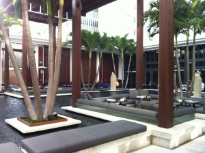 Courtyard Seating for Breakfast at The Setai